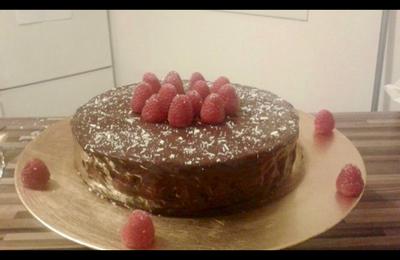 Feuillantine ~ Framboises entieres ~ mousse au chocolat