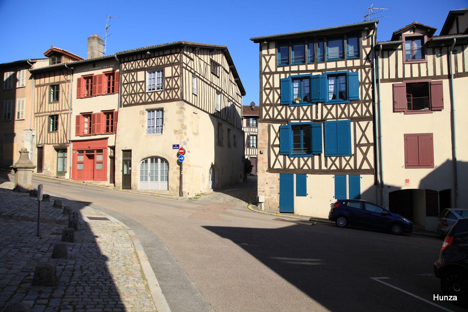 Limoges, maisons à pans de bois rue Porte Panet