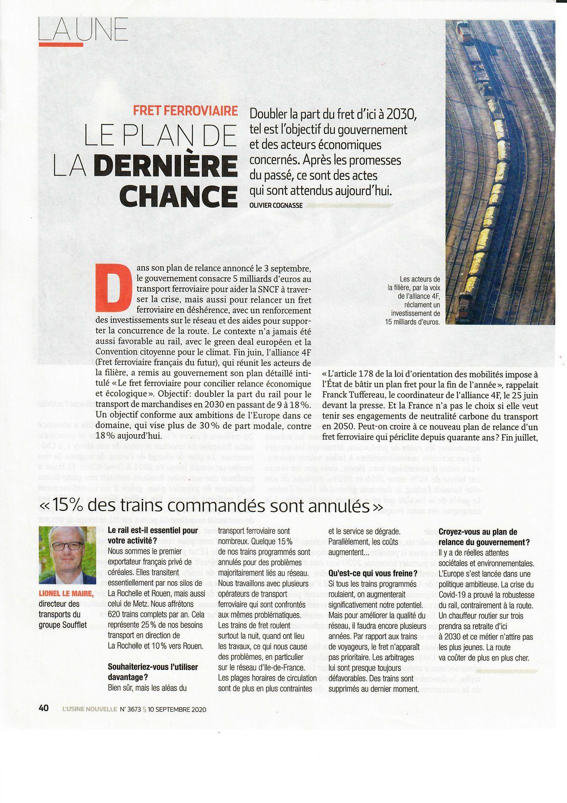Vu et lu dans l'Usine Nouvelle n° 3673 du 10/09/20
