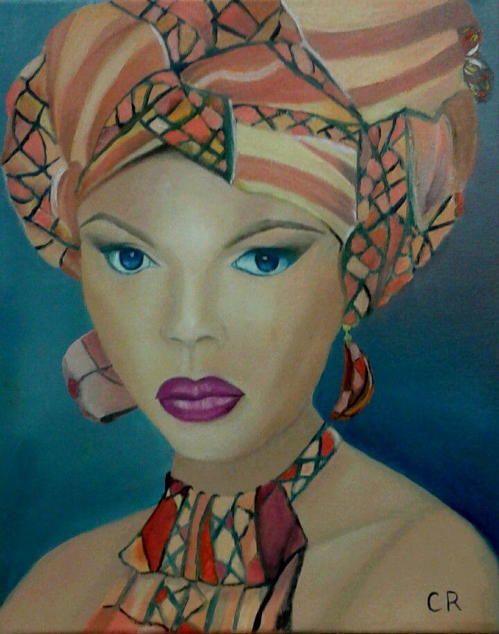 Belle femme au turban