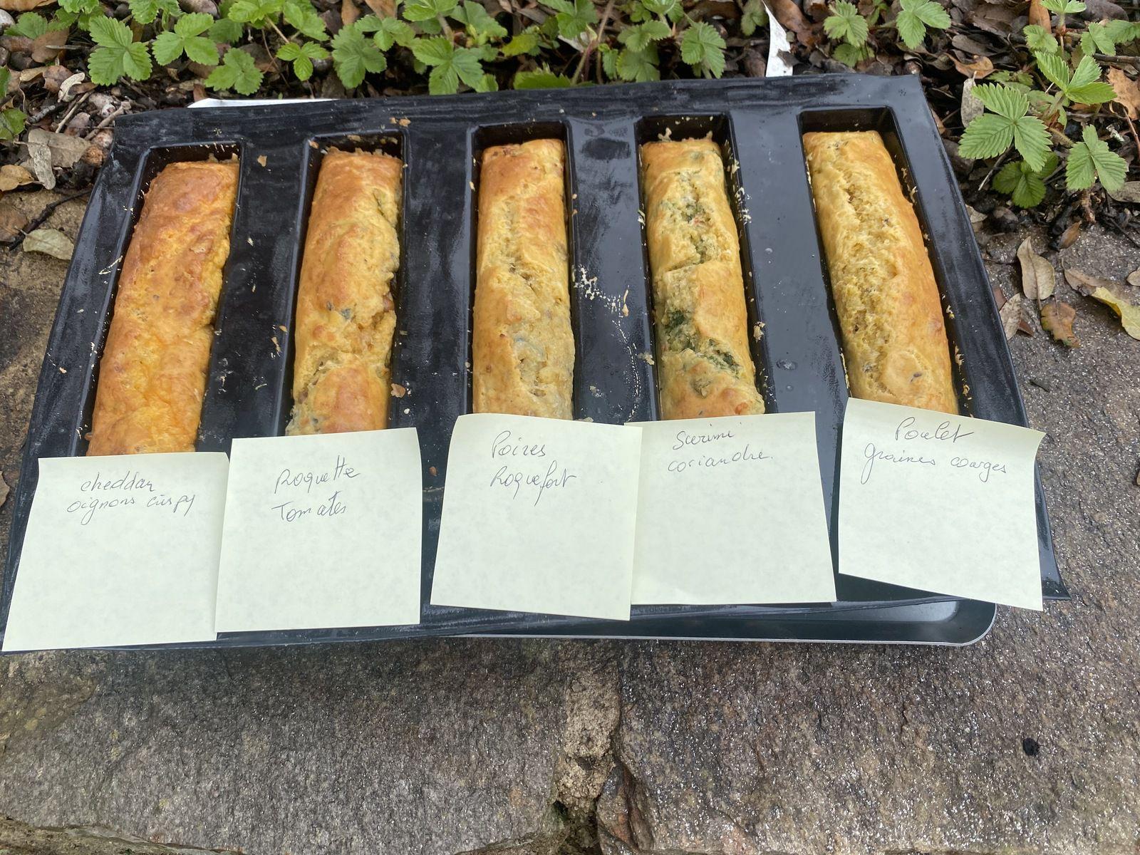 5 CAKES SALÉS ( avec moule 5 cakes de Demarle) 1 💚 💙💜