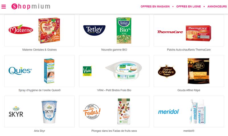 Quelques captures d'écran de l'application et du site de Shopmium (tous droits réservés) @ Tests et Bons Plans