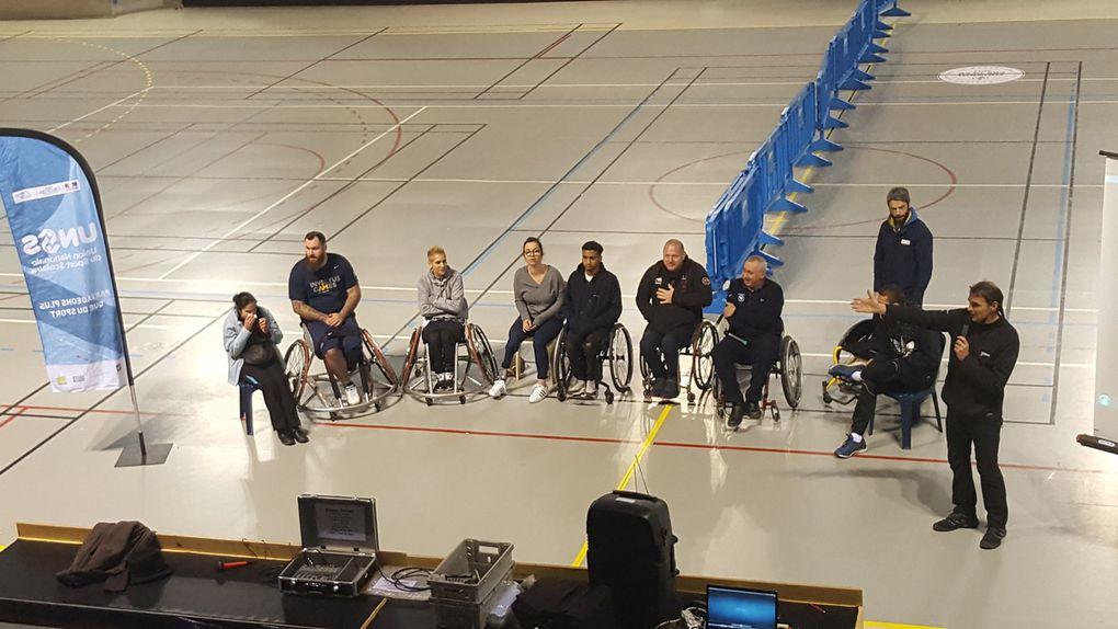 Des sportifs handicapés de haut niveau au contact des 4ème et 3ème de la SEGPA