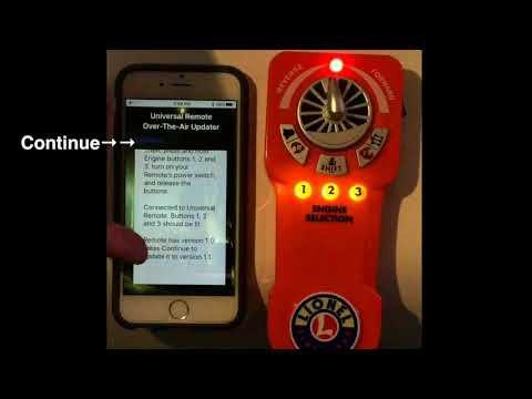 Nouveau Firmware pour la télécommande LionChief Lionel