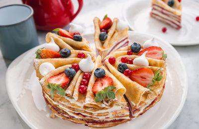 Bon appétit - Nourriture - Gâteau - Crêpes - Fruits des bois - Photographie - Wallpaper - Free