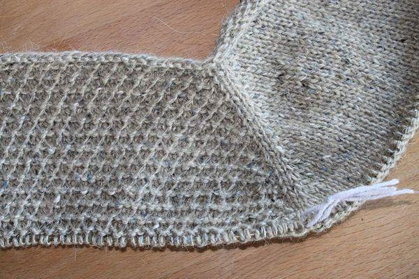 Meine Rowan felted Tweed ist angestrickt