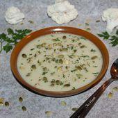 Soupe de chou-fleur et navets au St Moret - Chez Vanda