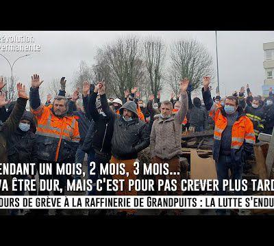 """""""Je ne veux pas crever plus tard !"""" - 12 jours de grève à la raffinerie Grandpuits, la lutte s'endurcit."""