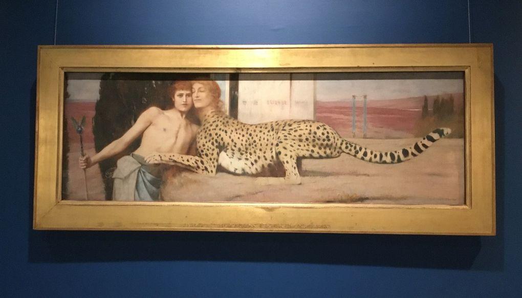 Fernand Khnopff (1858-1921), les Caresses, Huile sur toile, 1896