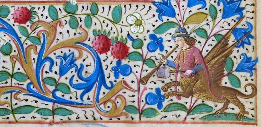 Heures à l'usage de Troyes, calendrier et prière en français, XVe siècle - bréviaire du XVe siècle. (source : médiathèque municipale)