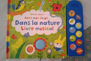 Livre musical Avec mon doigt ... dans la nature - Editions Usborne