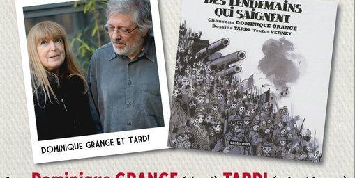 Concert Spectacle DES LENDEMAINS QUI SAIGNENT à MEAUX le 11 NOVEMBRE 2010. Dominique GRANGE (chant) & TARDI (voix et images).