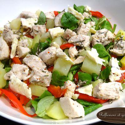 Salade poulet roquefort