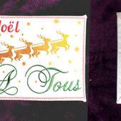 Projet d'enveloppe cadeau de Noël