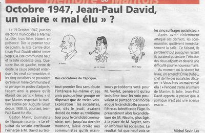 "Le Courrier de Mantes. ""Jean-Paul David. Un maire mal élu ?"""