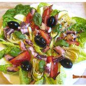 Salade de poulpe et légumes - www.sucreetepices.com