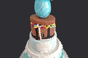 gâteau 3D Océan et fête interquartier 2013 caserne de Bonne Grenoble