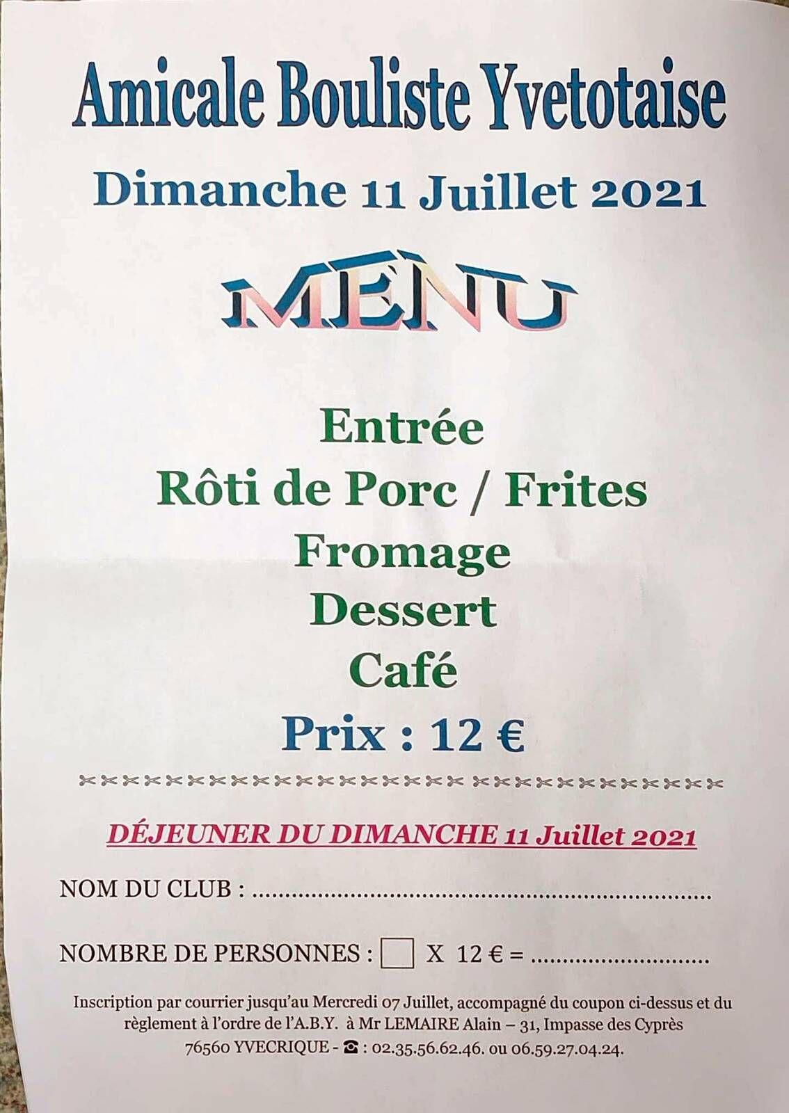 2021-07-11 Yvetot Doublette  Repas Prix de la Ville