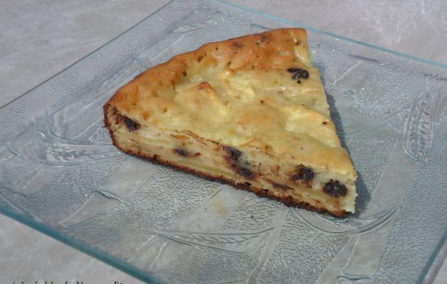 Gâteau ricotta/pommes/pralin/chocolat
