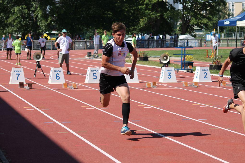 Les athlètes en action