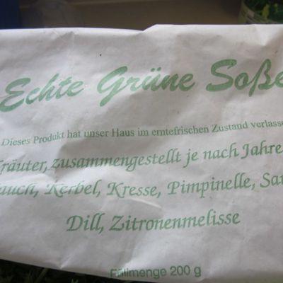 VERT, C TOUT VERT, jardin, herbettes et sauce...