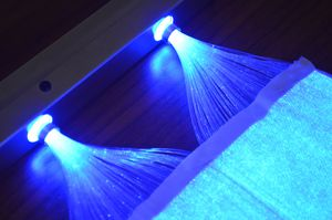 Tissu lumineux fibre optique