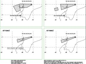 Sangay - Volcanic ash advisory for March 6 and 7, 2021 - Doc. VAAC Washington - one click to enlarge