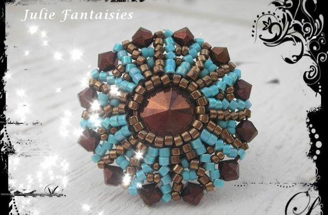 Bague Ursa Choco turquoise