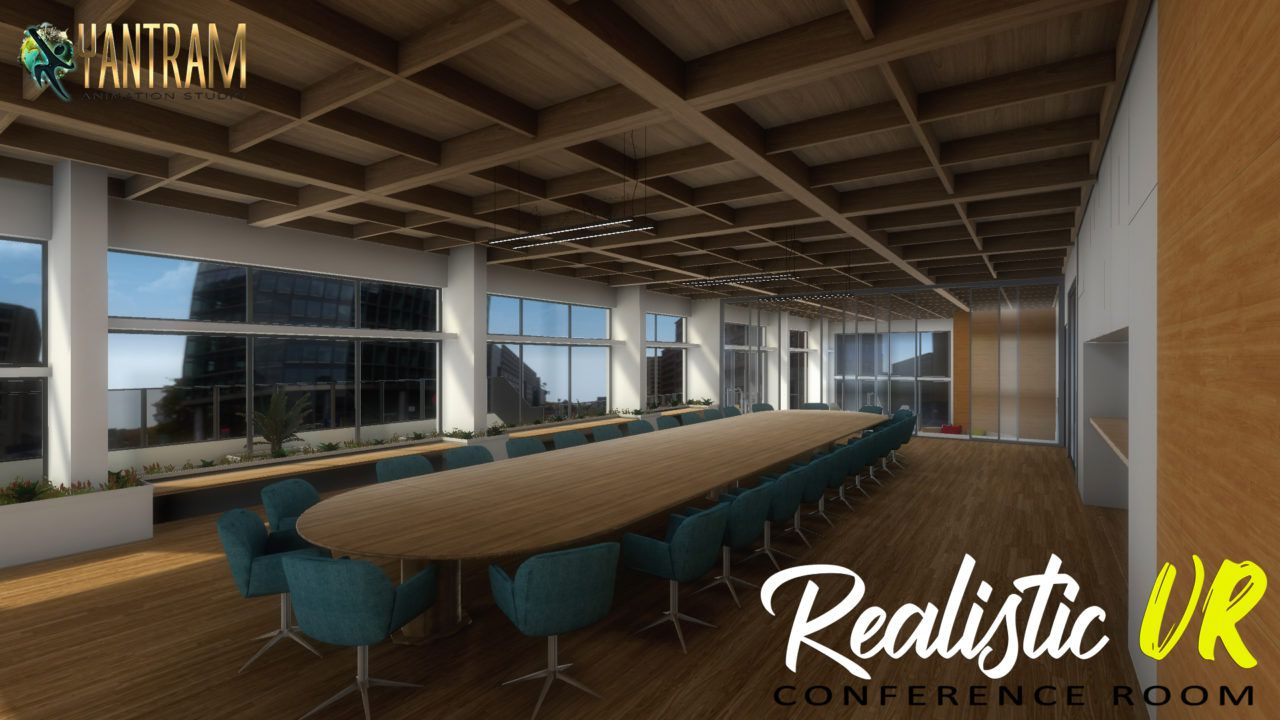 360-degree Realistic Virtual Reality Conference Room of Virtual Reality Studio by Virtual reality developer.