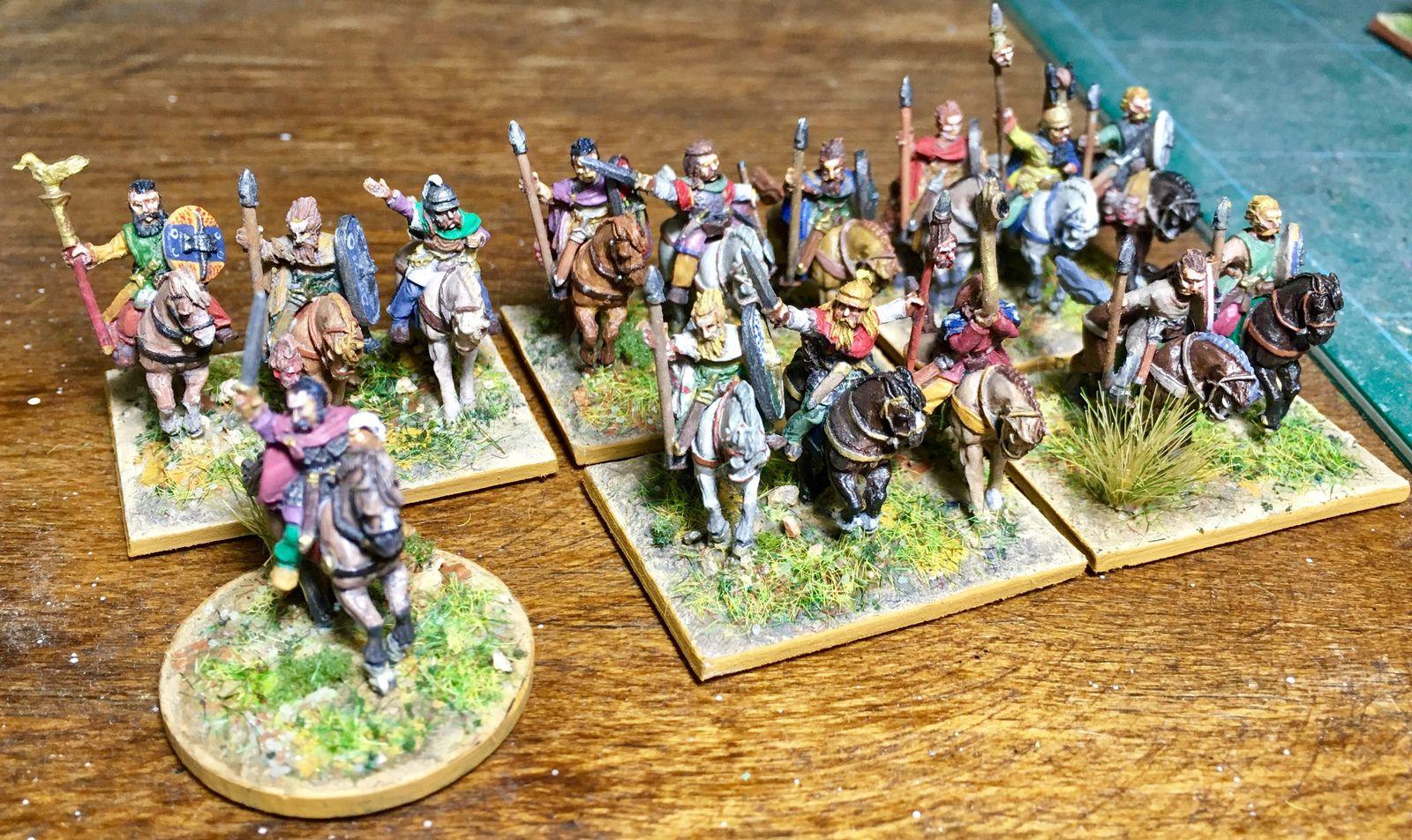 Les Gaulois avec leur général.