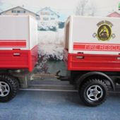 3050-C MERCEDES UNIMOG FIRE RESCUE DISTRICT N°3 MAJORETTE 1/43 - car-collector.net