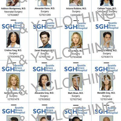 Cartes GREY'S ANATOMY