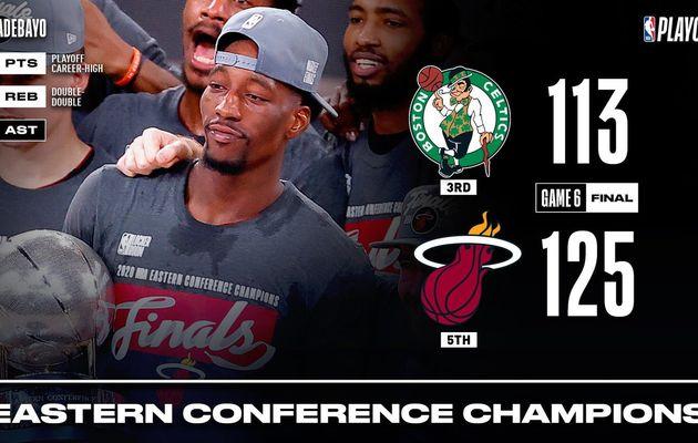 Bam Adebayo envoie les Celtics en vacances et propulse le Miami Heat en Finales NBA