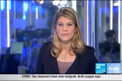 2012 01 13 @07H00 - LOUISE HANNAH, FRANCE 24, LIVE FROM PARIS