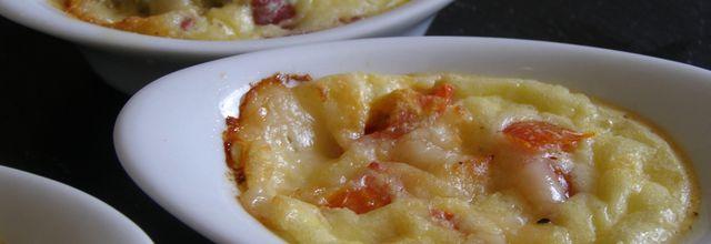 Mises en bouche Tomates/parmesan Brésaola/bleu de Bresse