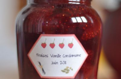 Confiture fraises, vanille, cardamome