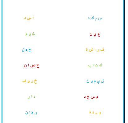 Exercice : rassembler des lettres pour former un mot en arabe