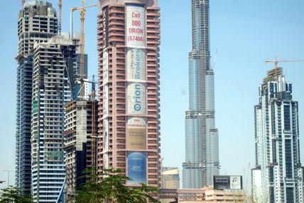 La tour de Dubaï :800m en construction
