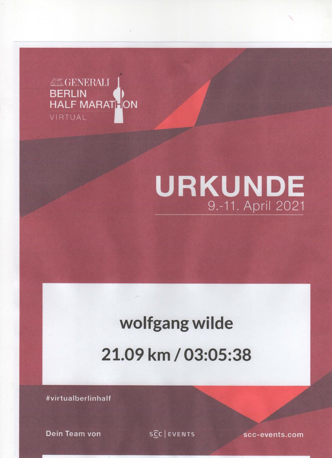 Generali Berlin Half Marathon am 9. April 2021 Virtual