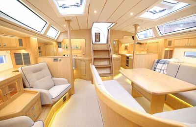 Boot Düsseldorf - A new interior for the Hallberg-Rassy 64