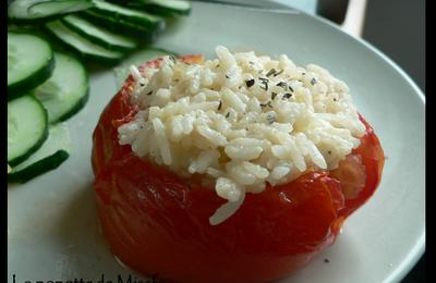 Tomate ou aubergine farcie au St Nectaire