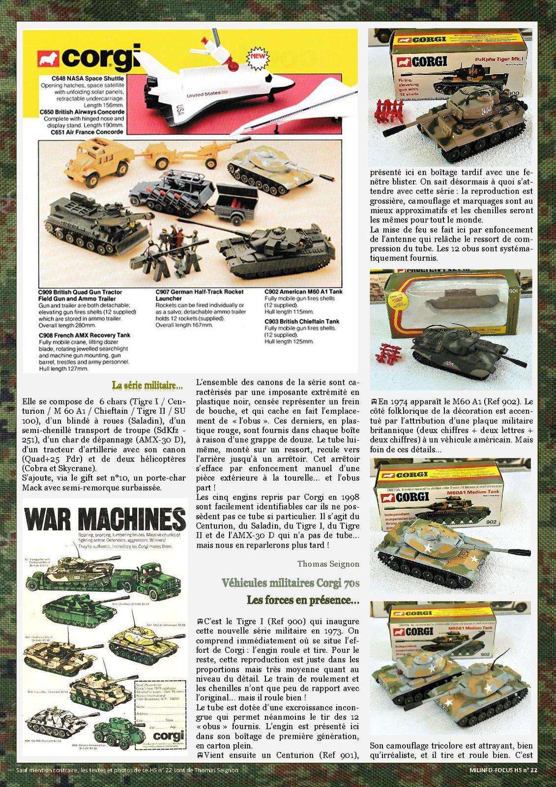 Milinfo-Focus HS22 : Les miniatures militaires Corgi des années 70