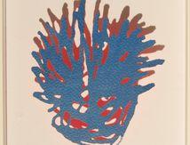 """""""Il suffit d'un grand morceau de ciel bleu """"      Acrylique sur papier 40X40"""