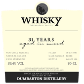 3006 Dumbarton 31Y - Passion du Whisky