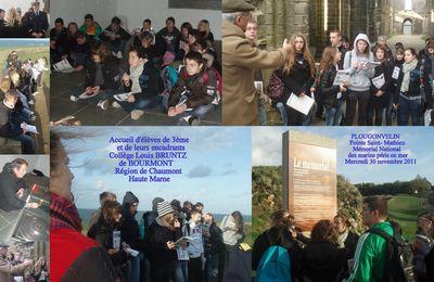 Tourisme de mémoire : des collégiens haut-marnais au Mémorial de la Pointe Saint Mathieu