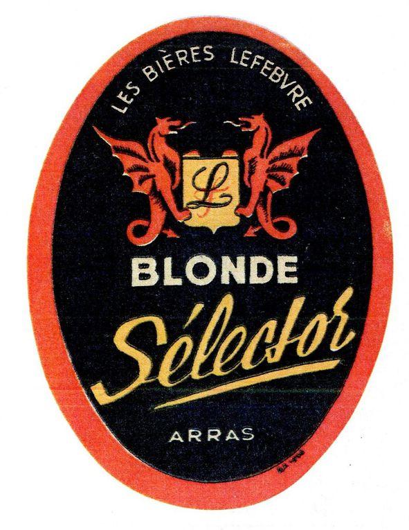 Etiquettes de bières brassées à Arras dans l'entre-deux-guerres. (collections Hervé Merlier)