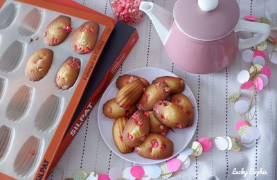 Madeleines aux pralines roses