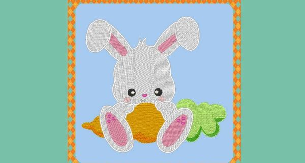 Broderie Lapin et carotte