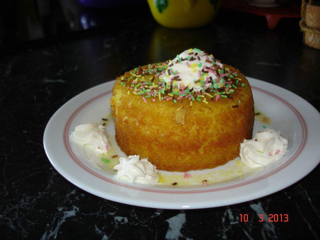 Gâteau à l'orange. Un baba à l'orange et au Cointreau, un délice.