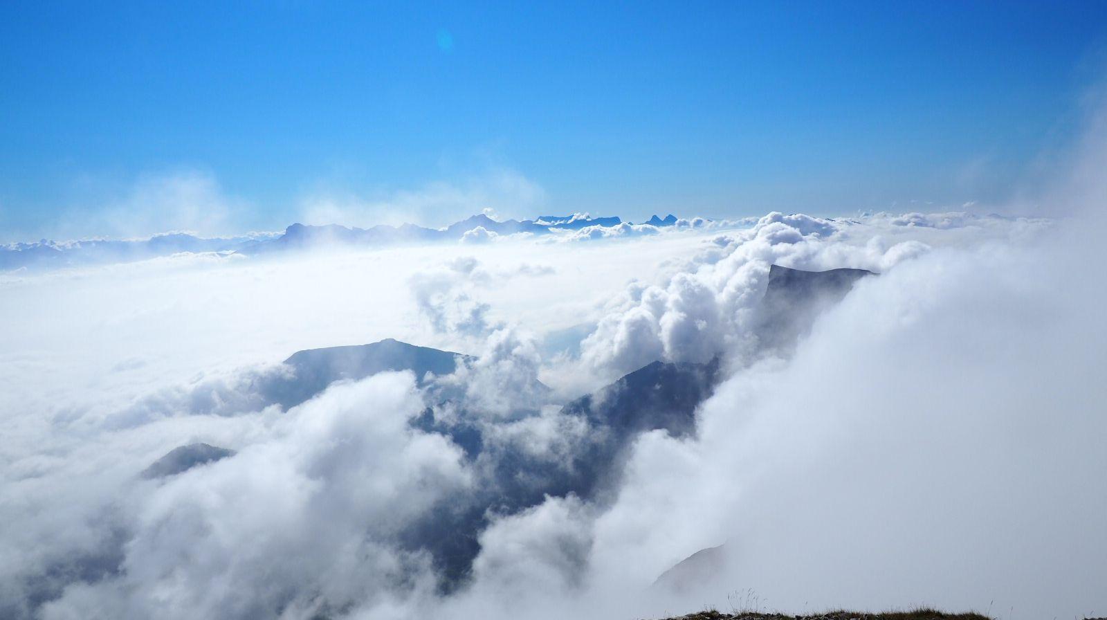 La vue du sommet.